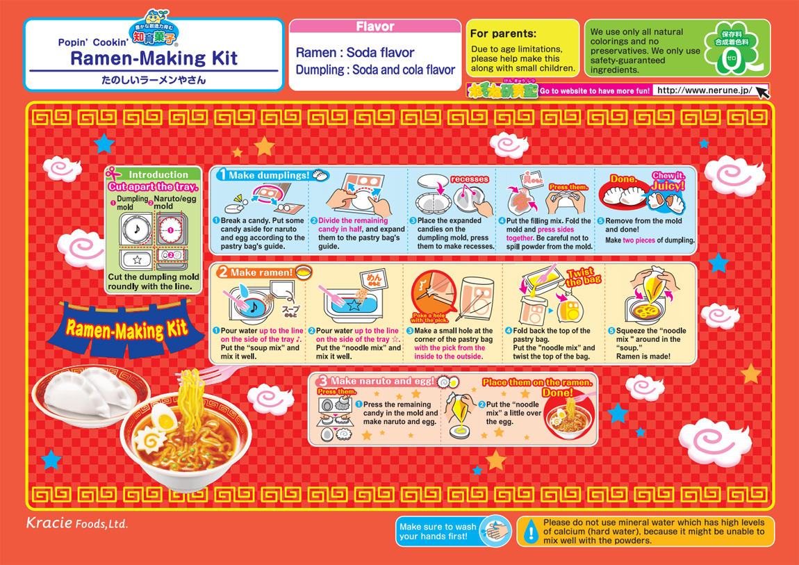 Popin' Cookin' DIY Candy Ramen Shop How To Instructions