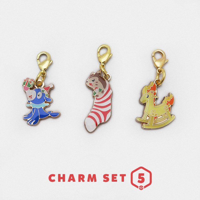 Christmas Pokémon 2016 Charm Set