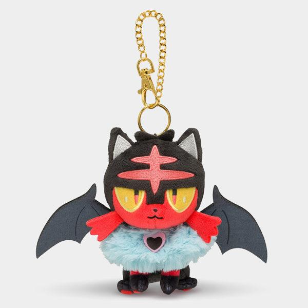 Pokémon Center Halloween Litten Keychain Plush