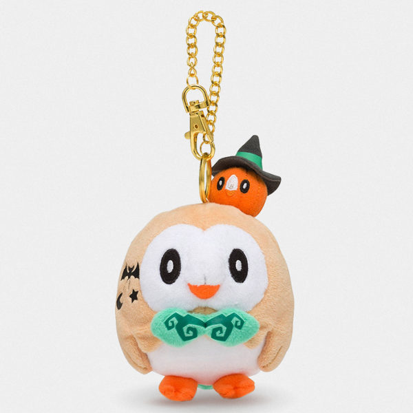 Pokémon Center Halloween Rowlet Keychain Plush
