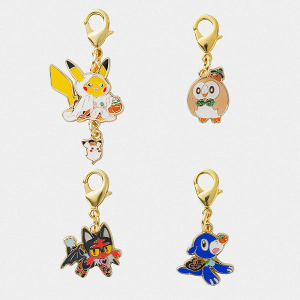 Pokémon Center Halloween Ghost Pikachu Charm Set