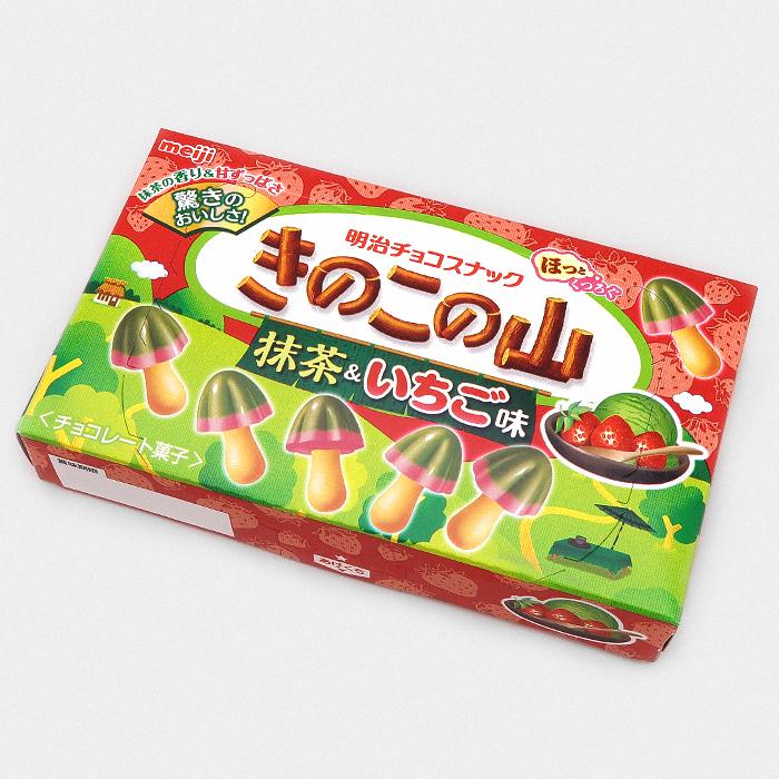 Kinoko No Yama Chocolate - Matcha & Strawberries