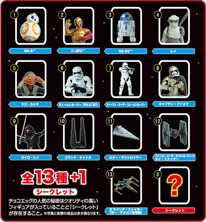 Star Wars: The Last Jedi Chocolate Egg Japan Candy