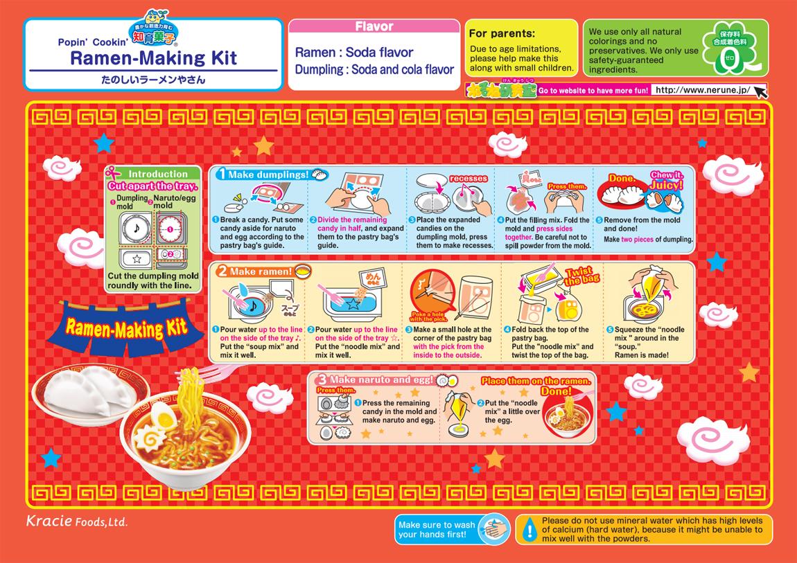 Popin' Cookin' DIY Candy Ramen Shop How To Instructions
