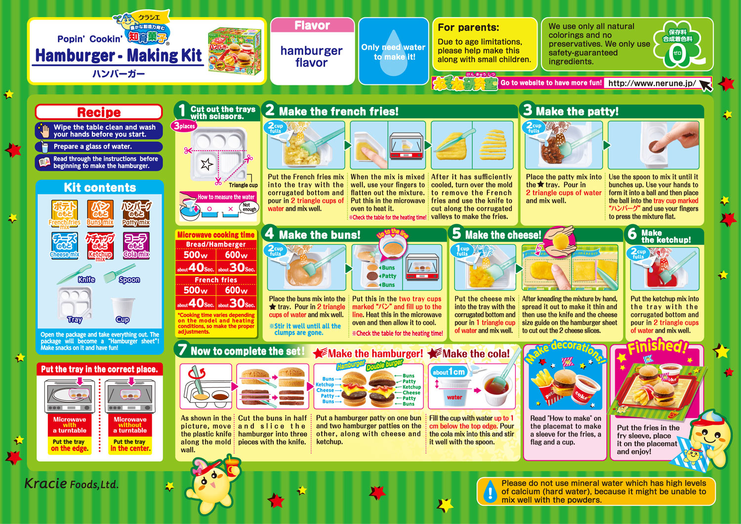 Popin' Cookin' DIY Candy Burgers & Fries How to