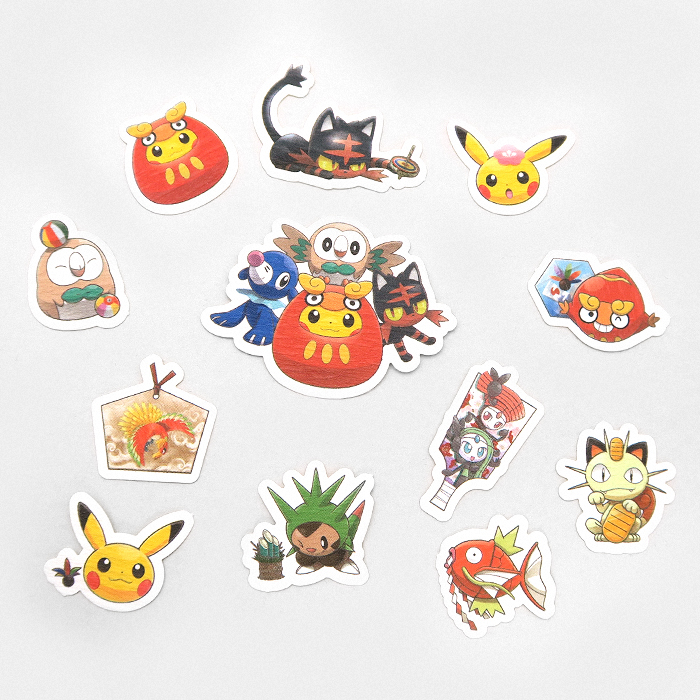 okémon New Years 2017 Sticker Set