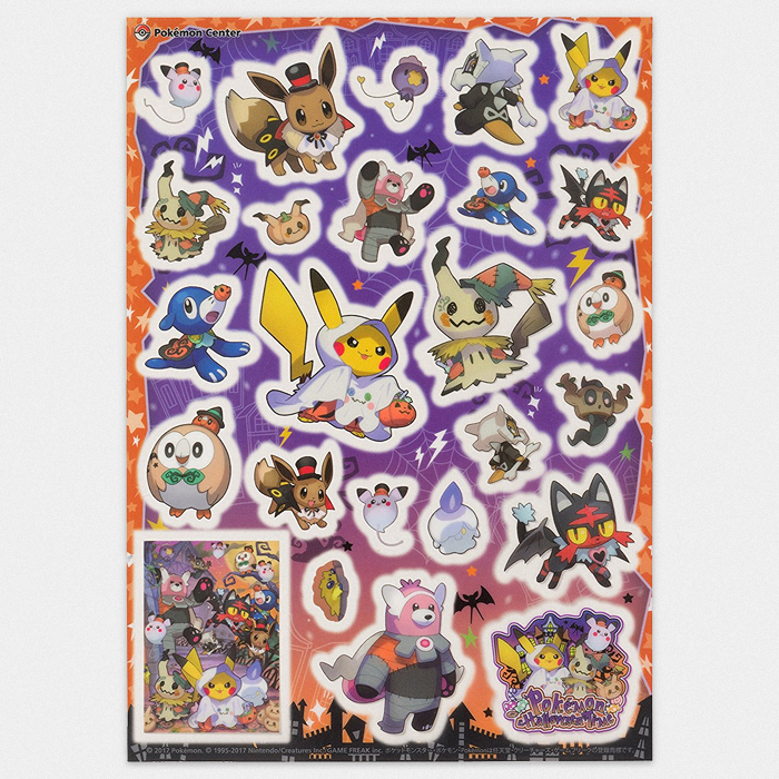 Pokémon Halloween Sticker Set