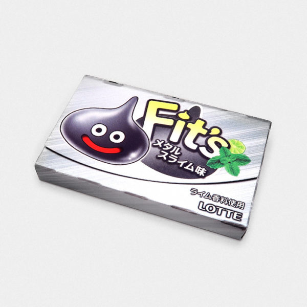 Lotte Fit's Chewing Gum Dragon Quest Metal Slime - Lime & Mint