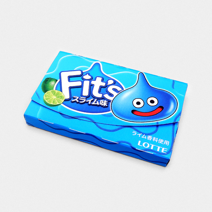 Lotte Fit's Chewing Gum Dragon Quest Slime - Lime