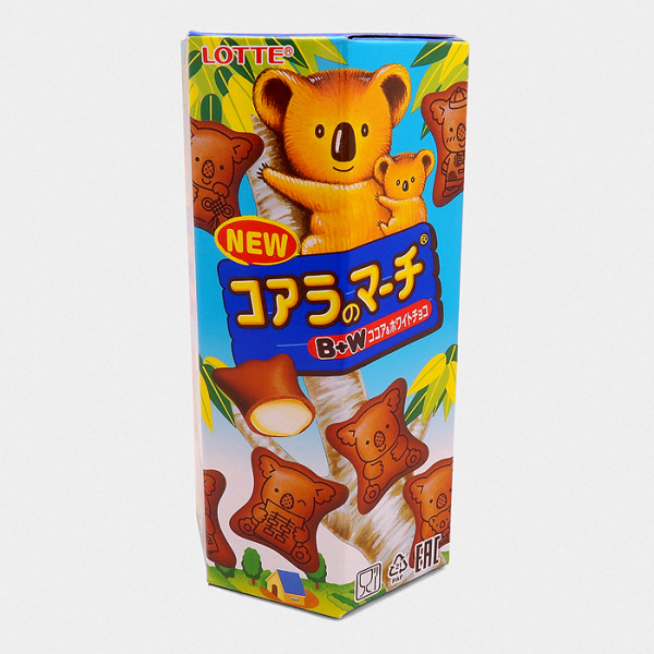 Lotte Koala's March Biscuits - Cocoa & White Chocolate