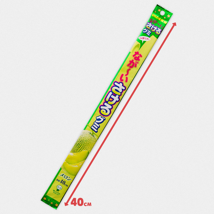 UHA Sakeru Long Long Gummy Candy - Melon