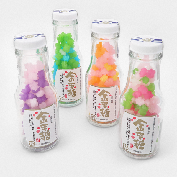 Konpeito Japanese Sugar Candy Bottles