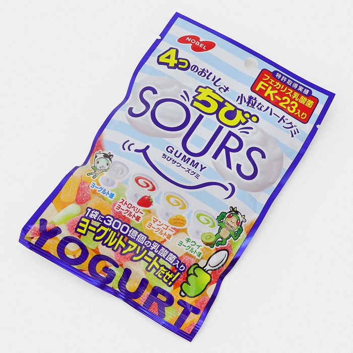 Fruit Yogurt SOURS Gummy Candy - Something Japanese