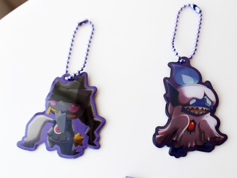 Team Trick Halloween 2018 Pokémon Center keychain Charms