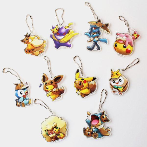 Pokémon Center Pikachu & Eevee Fan Acrylic Charms