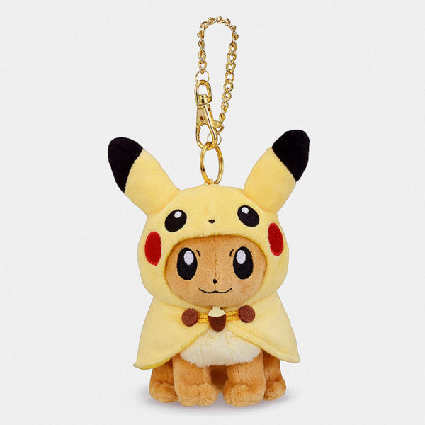 Pokémon Center Eevee With Pikachu Poncho Keychain Plush
