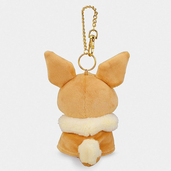 Pokémon Center Pikachu With Eevee Poncho Keychain Plush