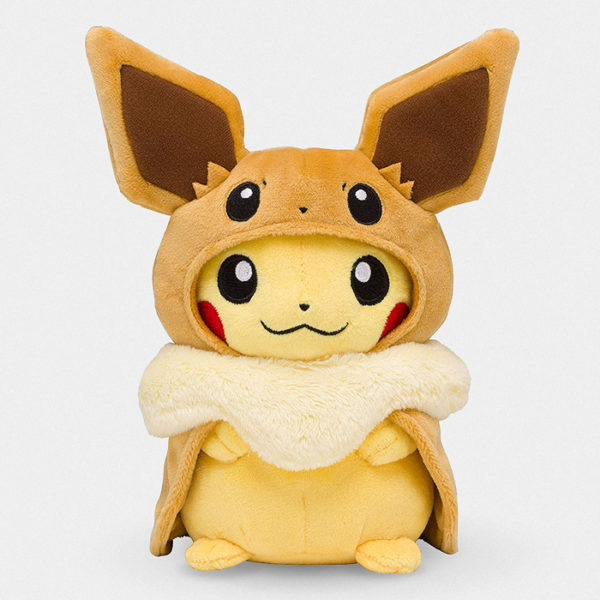 Pokémon Pikachu With Eevee Poncho Plush