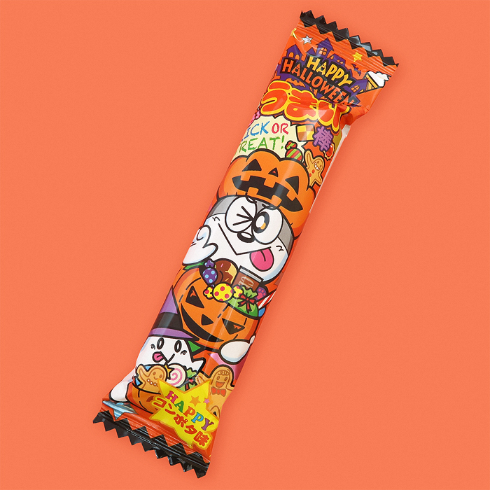 Umaibo Puffed Corn Stick - Corn Potage & Pumpkin Halloween