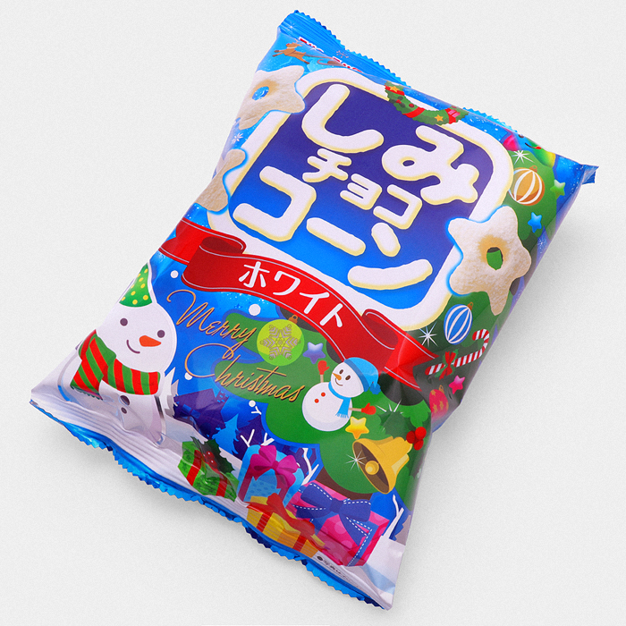 Shimi Choco Corn Chips – Christmas White Chocolate