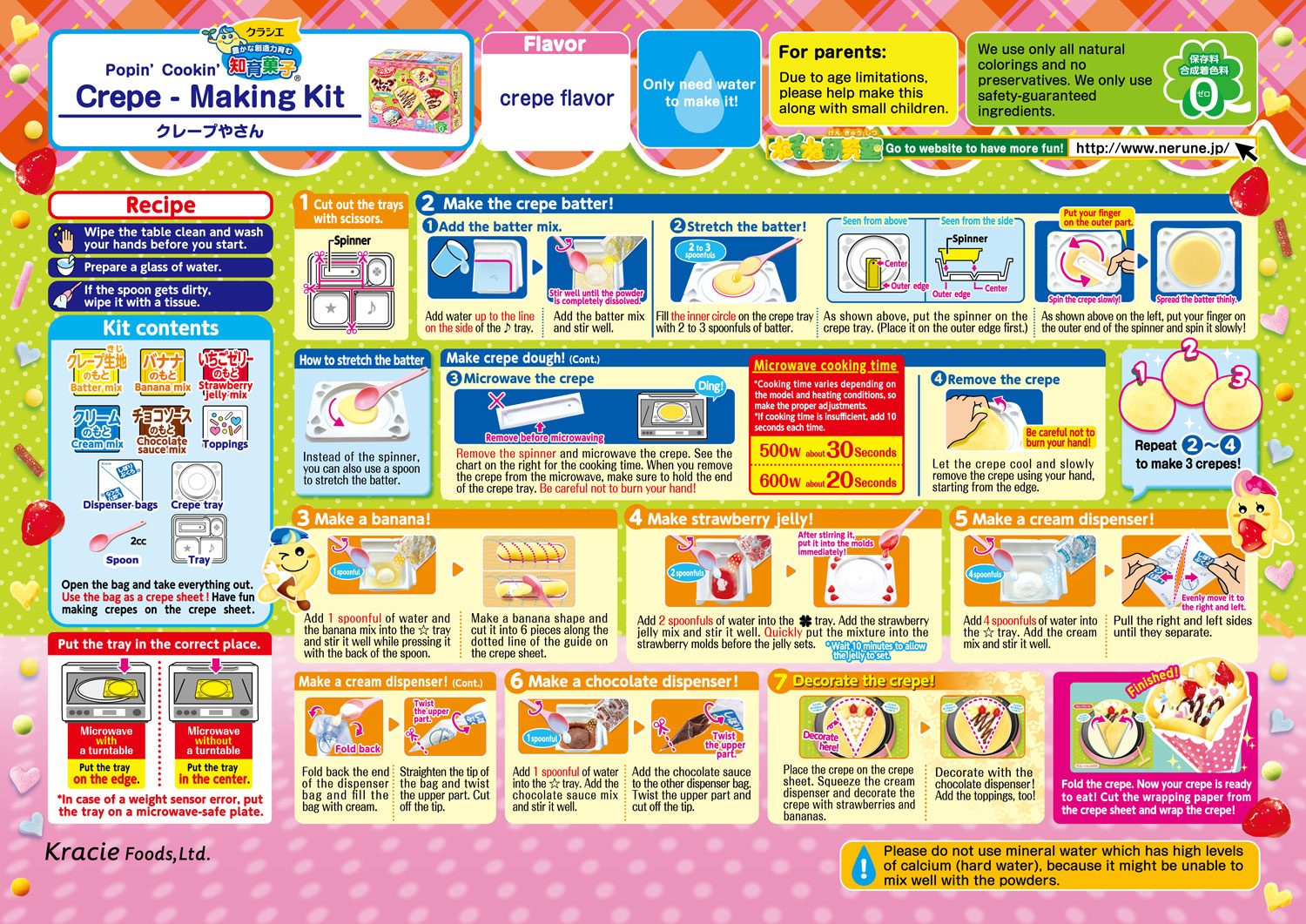 Popin' Cookin' DIY Candy Crepe How to