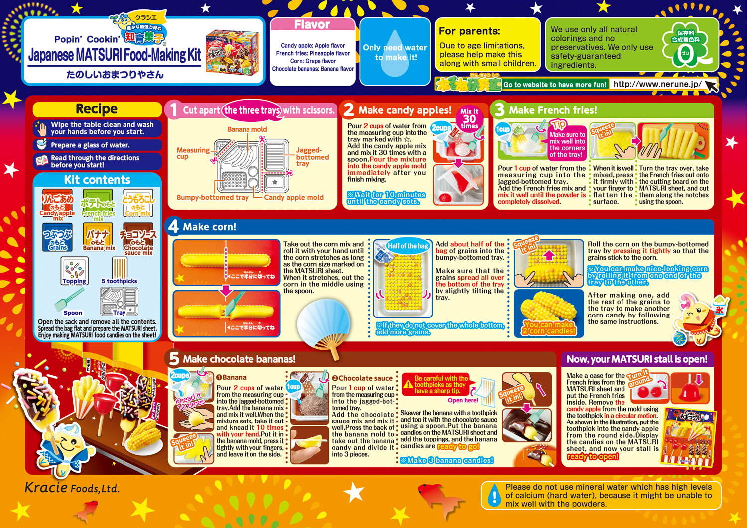 Popin' Cookin' DIY Candy Tanoshii Omatsuri Festival Food How to