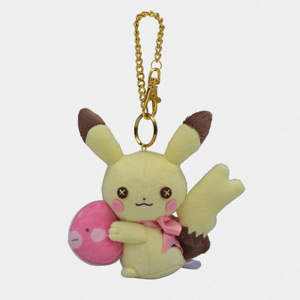 Fluffy Little Pokémon Female Pikachu Bag Charm