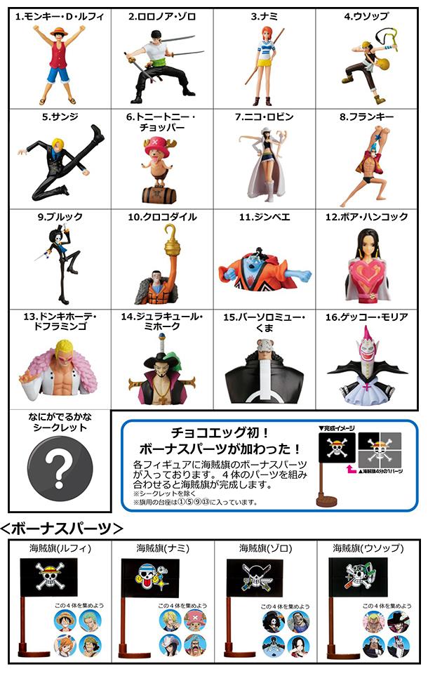 One Piece Chocolate Egg figure set