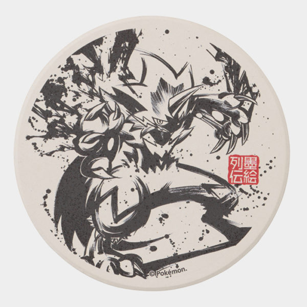 Pokémon Center Sumi-e Zeraora Coaster