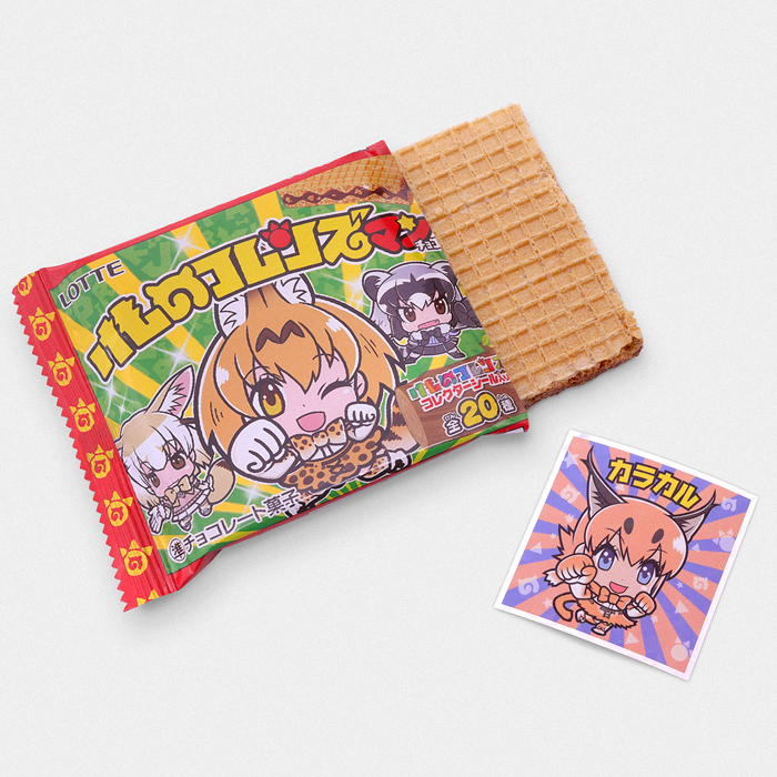 Kemono Friends Bikkuriman Cookie Sticker