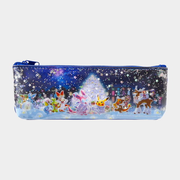 Pokémon Christmas 2019 Glittery Pencil Case