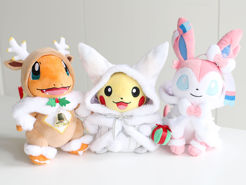 Pokémon Christmas 2019 plushies