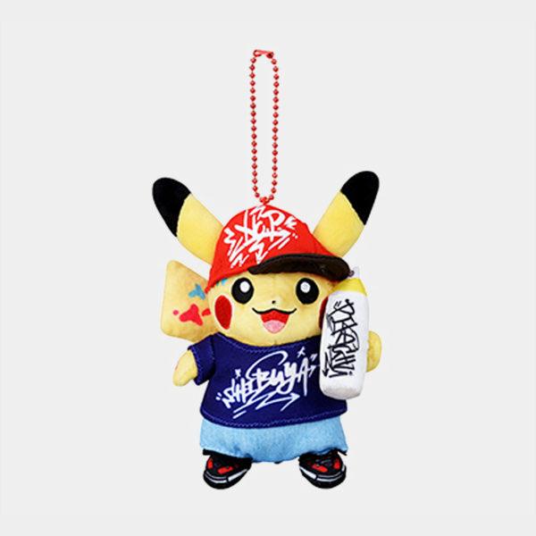 Pokémon Shibuya Graffiti Artist Pikachu Keychain Plush