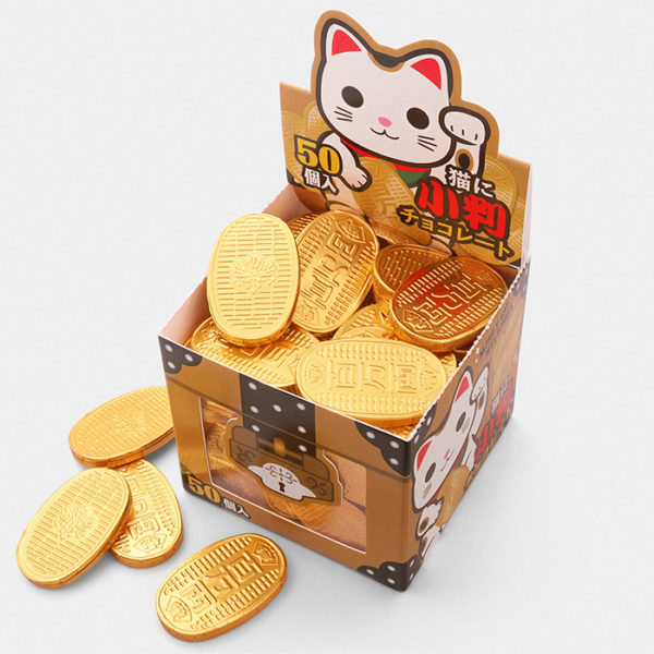 Lucky Cat Chocolate Coin box