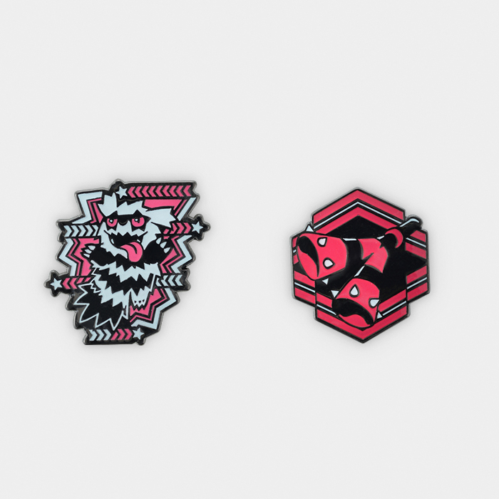 Pokémon Center #GOGO!YELL!! Galarian Zigzagoon Pin Set