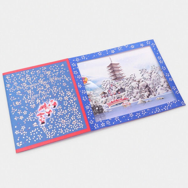 Japan 3D Pop-Up Christmas Card