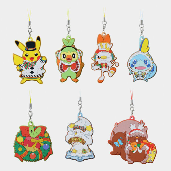 Pokémon Christmas 2020 Rubber Charms