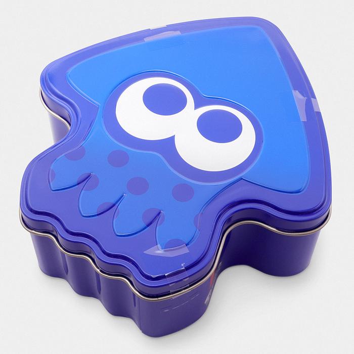 Nintendo Store Tokyo Splatoon Cookie Tin blue