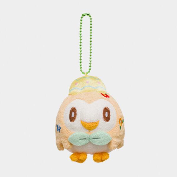 Pokémon Center Happy Easter Basket Rowlet Keychain Plush