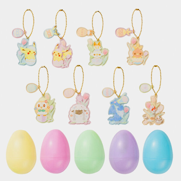 Pokémon Center Happy Easter Basket Acrylic Charms