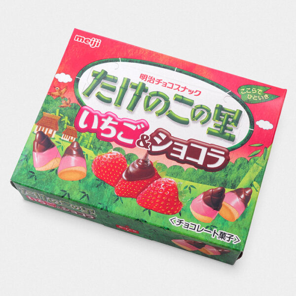 Takenoko No Sato Cookies - Strawberry & Chocolate