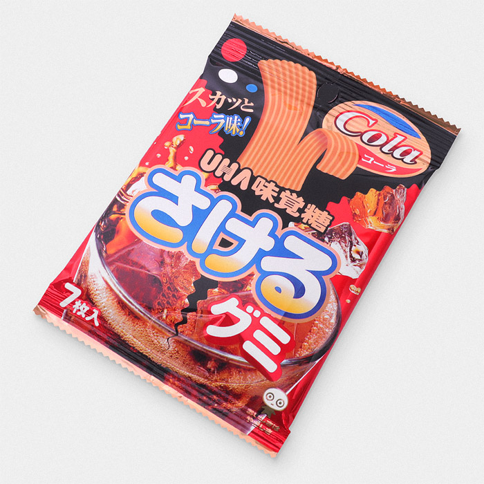 Sakeru Long Long Gummy Candy – Cola