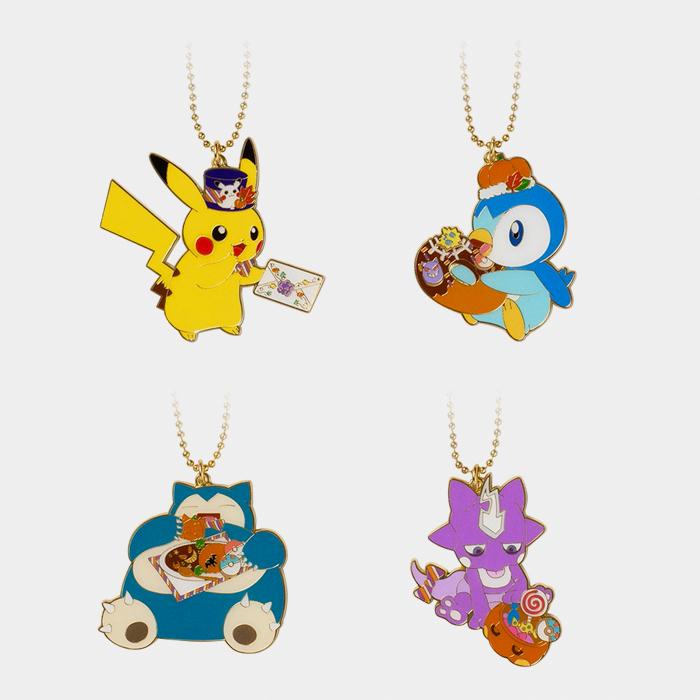 Pokémon Center Halloween 2021 Pumpkin Banquet Metal Charms