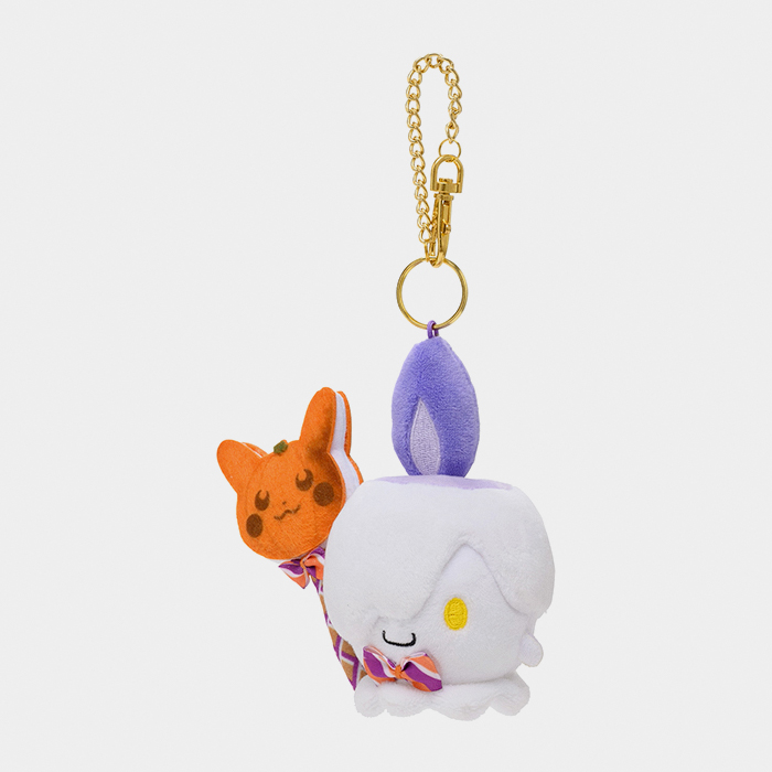 Pokémon Center Halloween 2021 Pumpkin Banquet Litwick Keychain Plush