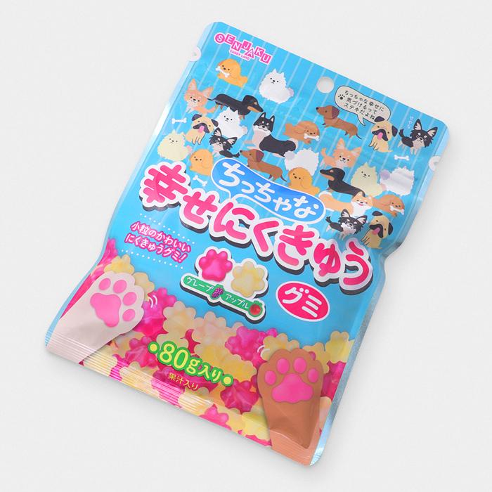 Japanese Happy Dog Paw Fruit Gummies - Grape & Apple