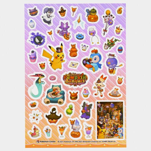 Pokémon Halloween 2021 Pumpkin Banquet Sticker Set