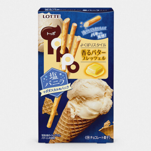 Japanese Toppo Cookie Sticks – Vanilla Ice Cream